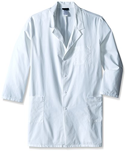 Unisex Coat Lab Poplin - Cherokee Men's Big-Tall Professional with 40 Inch Unisex Lab Coat in Poplin, White, 5X-Large