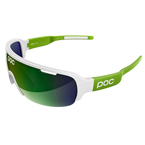 POC DO Half Blade Sunglasses, Hydrogen White/Cannon Green, One Size