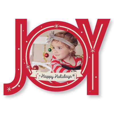 Custom Photo Holiday Cards - JOY - Christmas Greeting Cards - Set of - Photo Christmas Cards 20