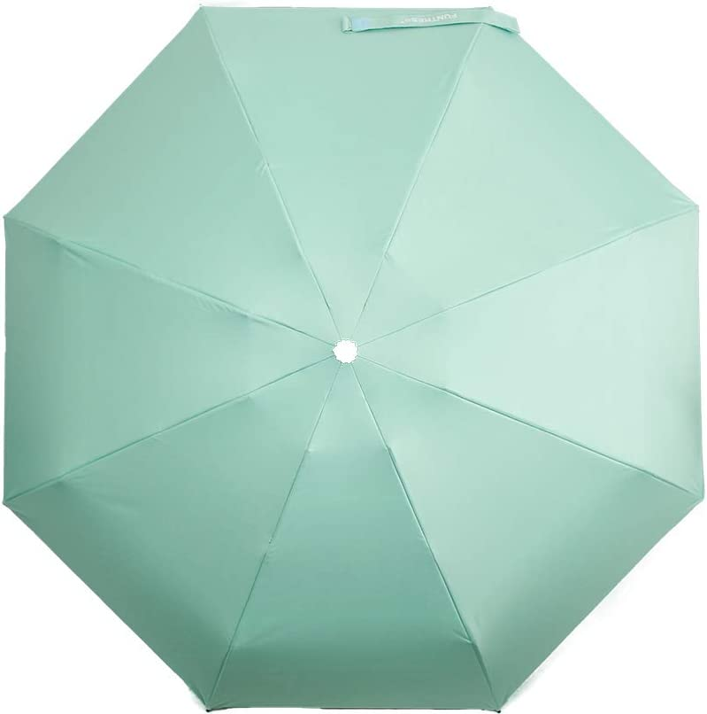 FUNTRESS Mini Compact Umbrella for Travel Extra Large UV Protection Sun Rain Umbrellas Women Kids Outdoor Gift Lightweight Upgraded Mint Green