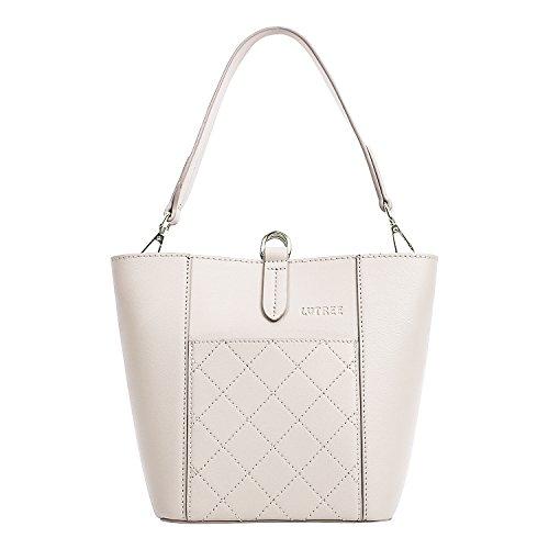 Lvtree Bucket Bag, Waterproof PU Leather Lightweight Purse and Handbag Trendy Satchel Tote Travel Shoulder Beach Bags 2pcs Set ()