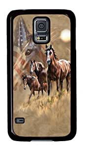 Rosesea Custom Personalized Patriot Horses PC Case Cover for Samsung S5 and Samsung Galaxy S5
