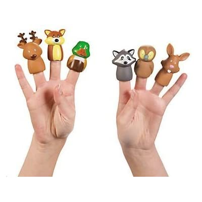 Woodland Animal Finger Puppets- Set of 24
