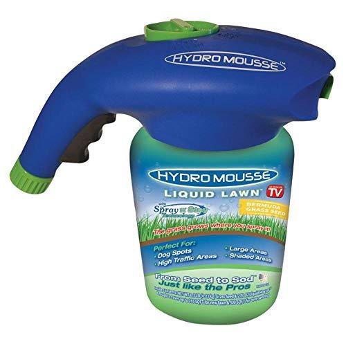 Hydro Mousse 17500-6 Liquid Lawn Bermuda Grass Seed, Spray N' Stay, As Seen On ()