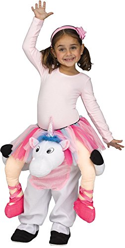 Fun World Girls' Toddler Carry Me Magical Unicorn Ballerina Costume, Multi, Xtra-Large -