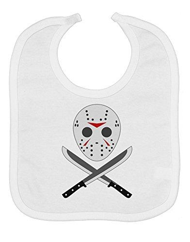 (Scary Mask With Machete - Halloween Baby Bib -)