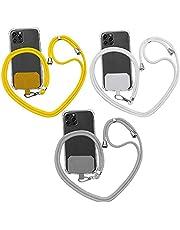 3 stuks universele crossbody nylon patch telefoon lanyards, anti-verloren verstelbare nekriem mode telefoon bedels, compatibel met de meeste telefoons