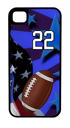 iPhone 8 Case Football Wishbone Offense Customizable Tough Case by TYD Designs in Black Plastic and Black Rubber with Team Number 22 ()