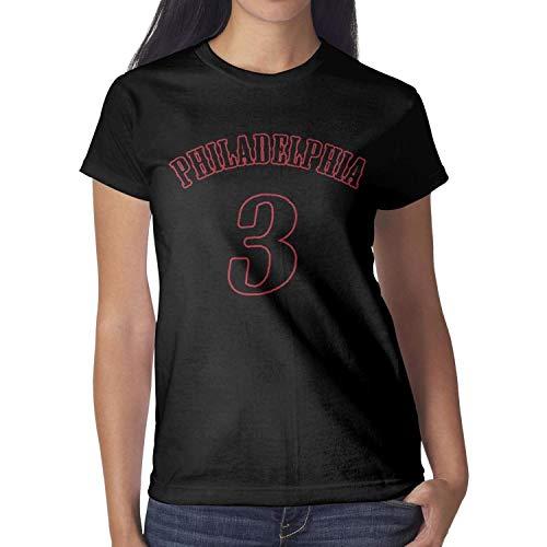 Womens American Basketball Short Tee Shirts Outdoor Performance Creative Cotton