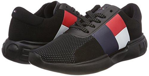 Wmn black Sneaker Lightweight Sneakers Noir 990 Femme Basses Hilfiger Tommy wFxOSqREx