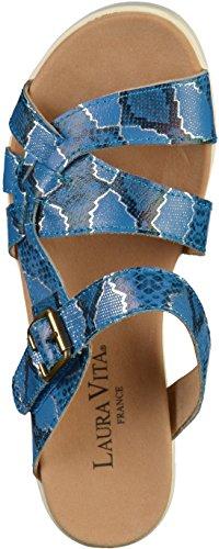 DOBBY05 Bleu Laura SL80237 5 Mule Vita Femmes z5FqAS