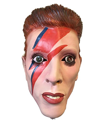 Bowie Ziggy Stardust Costume (Ziggy Bowie Mask, Latex, Famous Rock Star Mask, Stardust Celebrity Mask, Costume)