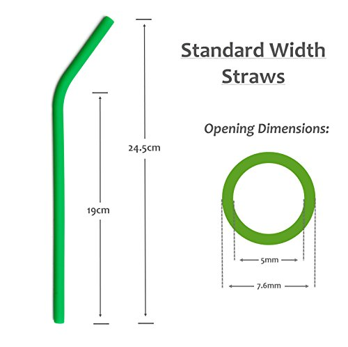 Reusable Drinking Straws BPA Free Silicone - (x6) STANDARD WIDTH 20oz, 30oz, Eco Friendly for Hot & Cold Drinks   Premium Quality, Protect Your Teeth and Reduce Plastic Waste Now! by Seraphina's Kitchen (Image #3)