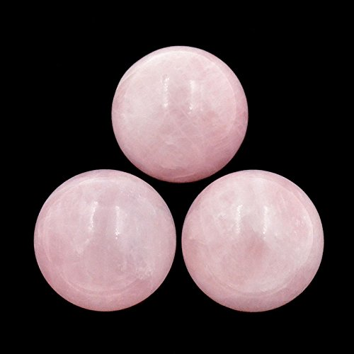 AD Beads Natural Gemstone Harmony Round Ball Crystal Healing Sphere Massage Rock 20~50mm (16 Rose Quartz, 35mm)