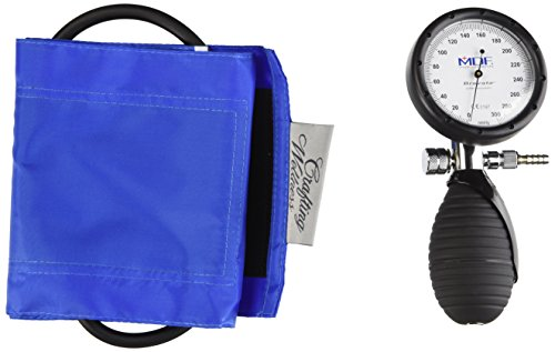 MDF® Bravata Palm Aneroid Sphygmomanometer - Blood Pressure Monitor with Adult Sized Cuff Included - Bright Blue (MDF848XPD-14)