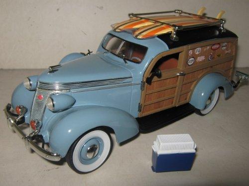 1937 Studebaker Woody Wagon Blue 1/24 by Unique Replicas 18594 - Studebaker Wagon