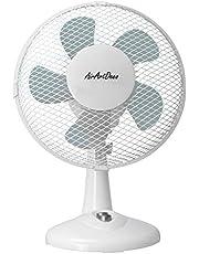 AirArtDeco - Tischventilator | Rotation zuschaltbar | oszillierend | leiser Betrieb | geeignet für Büro, Schlafzimmer, Wohnzimmer