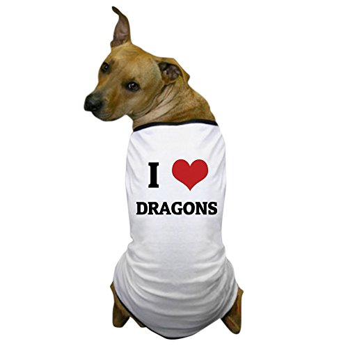 CafePress - I Love Dragons Dog T-Shirt - Dog T-Shirt, Pet Clothing, Funny Dog Costume
