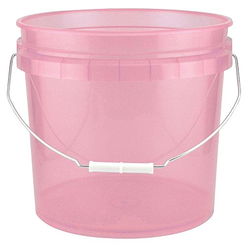Leaktite 3.5-Gal. Watermelon Plastic Translucent Pail (Pack of 3) (Watermelon Cleaning Supplies)
