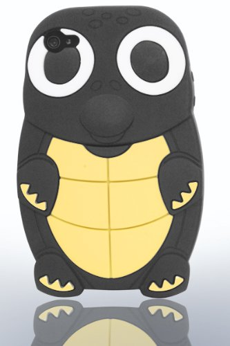 THS5Star tortue Gel Silicone housse coque etui case pour iPhone 4 iphone 4s manchot tortue couleur noir - Studio Lars-Peter Neu