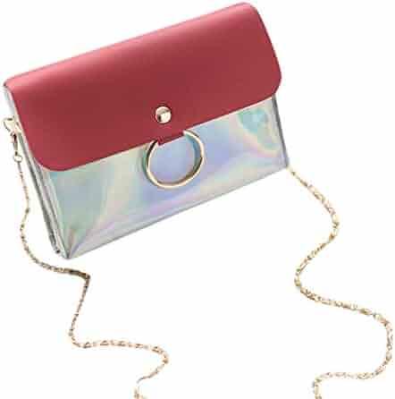 d13ed571de Yihaojia Leather Fashion Sequins Cover Crossbody Bag Shoulder Bag Coin Bag  Phone Bag for Women Girls