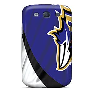 Tpu GG Fan Shockproof Scratcheproof Baltimore Ravens Hard Case Cover For Galaxy S3