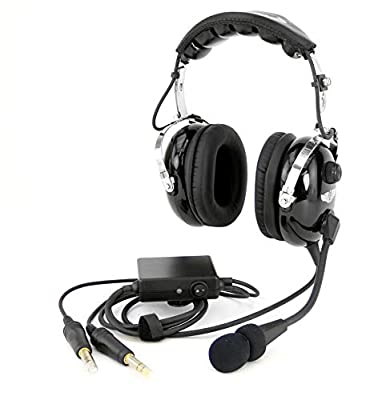 RA950 Stereo General Aviation Pilot Headset with ANR (Active Noise Reduction) by Rugged Radios