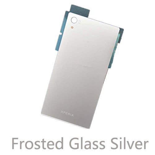 Silver Glass Audio (Vivi Audio Back Frosted Glass Battery Cover Housing Door For Sony Xperia Z5 E6653 E6683 E6633 (Frosted Glass Silver))