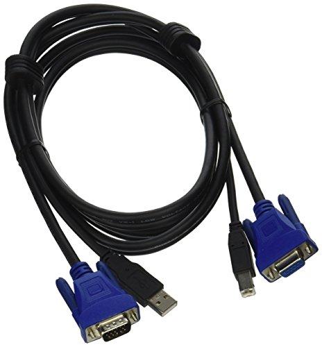 C2G 14175 USB 2.0 + SXGA KVM Cable, Black (6 Feet, 1.82 Meters)