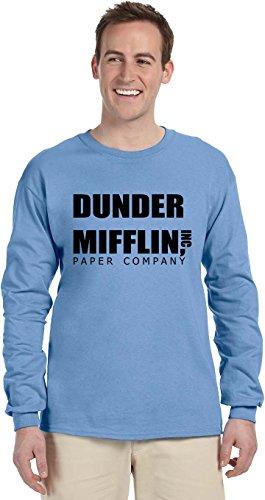 Blue Horizon Long Sleeve (DUNDER MIFFLIN PAPER COMPANY Long Sleeve T-Shirt~Carolina Blue~Adult-MD)