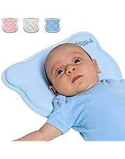 Almohada para Bebe para plagiocefalia desenfundable (con dos forros) para prevenir/curar la Cabeza Plana in Memory Foam Antiasfixia - KoalaBabycare® - Perfect Head