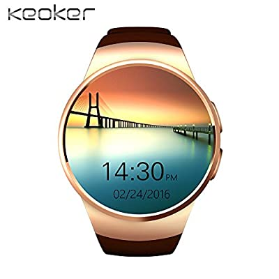 Keoker KW18 Smart Watch Phones Al All-in-one Bluetooth Smartwatch Support SIM TF Card Heart Rate Wearable App for Android iOS