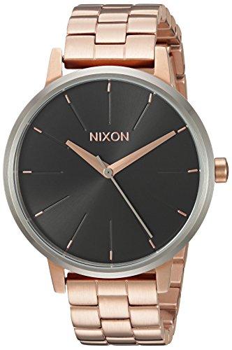 Nixon Women's 'Kensington' Quartz Stainless Steel Watch, Color:Rose Gold-Toned (Model: (Nixon Kensington Rose Gold Watch)