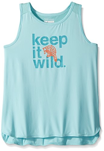 - Columbia Girls Outdoor ElementsTank Top, Candy Mint Wild Graphic, X-Small