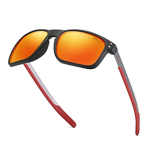 Bevi Polarized Sports Sunglasses Square Wayfarer Glasses for Men Women Running Cycling Fishing Golf Baseball 2556C2 -