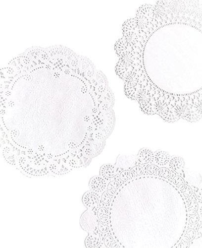 6 inch Variety Pack 150 pc. Paper Lace Doilies - Cambridge Royal French - 50 of Each by The Baker Celebrations