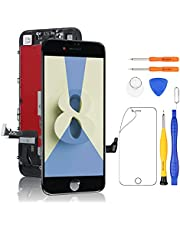 Yodoit for iPhone 8 LCD Display and Digitizer Assembly Glass 3D Touch Screen Replacement with Repair Tool Kit, Screen Protector - Compatible with Model A1863, A1905, A1906 (4.7 inch Black)