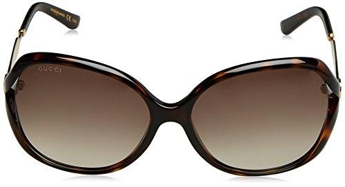 febd15224f2 Amazon.com  Gucci Women s Oval Sunglasses - Havana Brown  Clothing