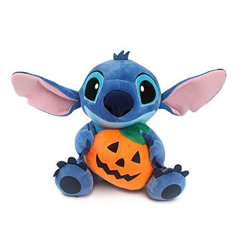 Lilo And Stitch Halloween Games (Diseny Lilo Stitch Halloween Day with Pumpkin 25cm 9.8in Plush Toy Stuffed)