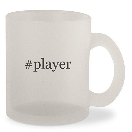 #player - Hashtag Frosted 10oz Glass Coffee Cup Mug (Sigo Player Mp3)
