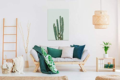 wall26 Canvas Wall Art - Retro Style Cactus - Giclee Print Gallery Wrap Modern Home Decor Ready to Hang - 32x48 inches by wall26