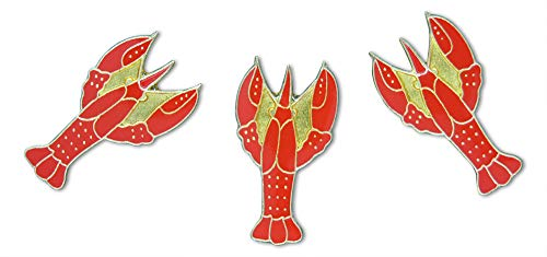 Red Lobster 3-Piece Animal Pride Lapel Pin or Hat Pin & Tie Tack Set with Clutch Back by Novel Merk ()