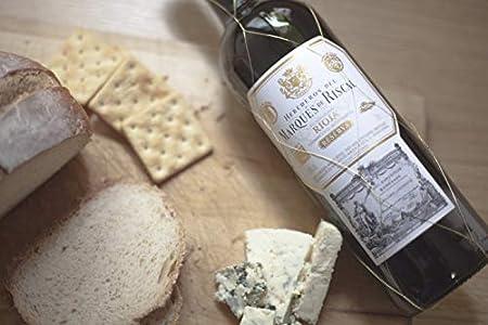 Marqués de Riscal - Vino tinto Reserva Denominación de Origen Calificada Rioja, Variedad Tempranillo, 24 meses en barrica - Estuche 2 botellas x 750 ml - Total: 1500 ml