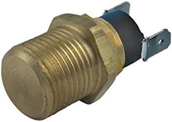 American Volt Electric Engine Fan Power Thermostat Switch Temp Sensor Threaded NPT Brass Probe 2-Pack 1//2 NPT, 160F On - 145F Off