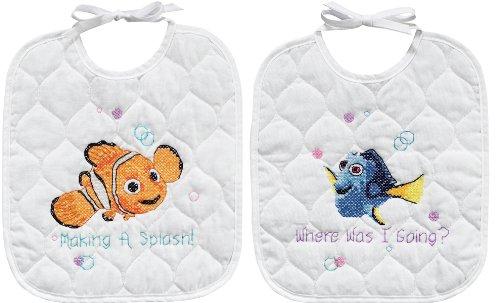 Disney Nemo Bibs Stamped Cross Stitch Kit ()