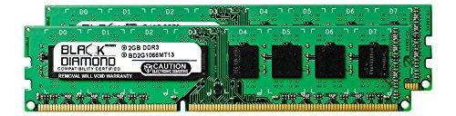 Pd1 Ram - 4GB 2X2GB RAM Memory for Acer Veriton X275-PD1 DDR3 DIMM 240pin PC3-8500 1066MHz Black Diamond Memory Module Upgrade