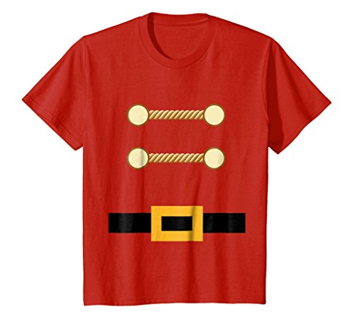 Kids Toy Soldier Christmas Costume Tee Nutcracker Uniform 4 Red