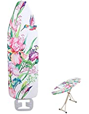 """Extra-Wide Ironing Board Cover and Pad Replacement with Scorch and Stain Resistant Thick Padding and Elasticized Edge 55"""" x 20"""" Ironing Board Covers Protective Scorch Mesh Cloth"""