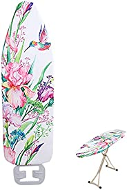 Extra-Wide Ironing Board Cover and Pad Replacement with Scorch and Stain Resistant Thick Padding and Elasticiz