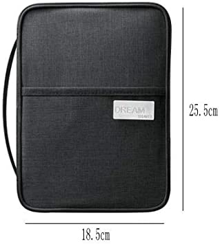Color : Black L LiYao Waterproof Passport Holder Travel Wallet Big Credit Card Wallets Organizer Travel Accessories Document Bag Cardholder